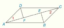 Chapter 4.CR, Problem 25CR, Review Exercises Given: ABCD is a  AF-CE- Prove: DF-EB-