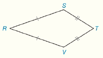 Chapter 4.CT, Problem 17CT, In Kite RSTV, RS=2x4,ST=x1,TV=y3andRV=y. Find the perimeter of RSTV.