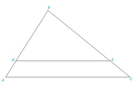 Chapter 5.3, Problem 28E, In Exercises 25 to 28, ABCDBE Exercises 25-28 Given: CB = 12, CE = 4, AD = 5. Find: DB