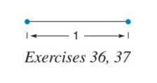 Chapter 5.4, Problem 37E, Using the line segment from Exercise 36, construct a line segment of length 2 and then a second
