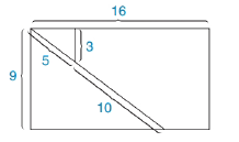 Chapter 5.4, Problem 38E, When the rectangle in the accompanying drawing whose dimensions are 16 by 9 is cut into pieces and