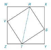 Chapter 5.4, Problem 41E, In the figure, square RSTV has its vertices on the sides of square WXYZ as shown. If ZT=5 and TY=12