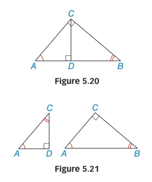 Chapter 5.4, Problem 44E, Use Figures 5.20 and 5.21 to prove Lemma 5.4.3. Lemma 5.4.3 The length of each leg of a right
