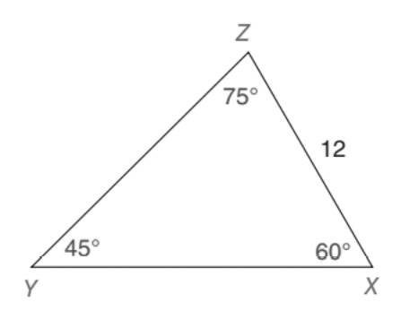 Chapter 5.5, Problem 21E, Given: XYZ with angles as shown in the drawing Find: XY HINT: Compare this drawing to the one for