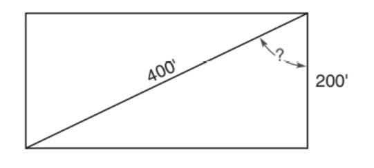 Chapter 5.5, Problem 25E, A jogger runs along two sides of an open rectangular lot. If the first side of the lot is 200 ft