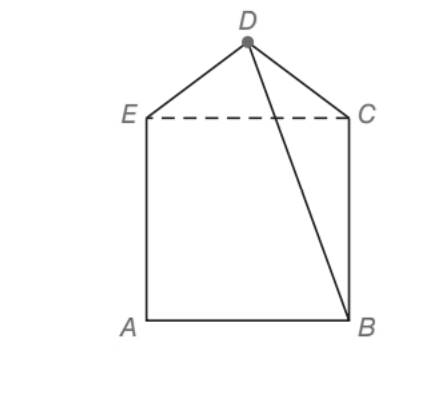 Chapter 5.5, Problem 38E, Diagonal EC separates pentagon ABCDE into square ABCE and isosceles triangle DEC. If AB=8 and DC=5,