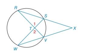 Chapter 6.2, Problem 33E, In the figure shown, RXVWXS by the reason AA. Name two pairs of congruent angles in these similar