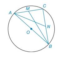 Chapter 6.2, Problem 35E, Given: AB is a diameter of  M is the midpoint of chord AC N is the midpoint of chord CB MB=73,AN=213