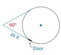 Chapter 6.2, Problem 36E, A surveyor sees a circular planetarium through an angle that measures 60. If the surveyor is 45ft