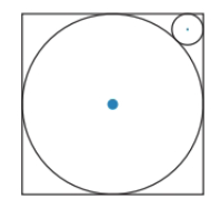 Chapter 6.2, Problem 37E, The larger circle is inscribed in a square with sides of length 4cm. The smaller circle is tangent
