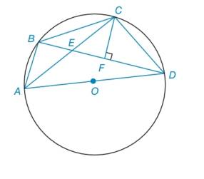 Chapter 6.2, Problem 49E, In the figure, quadrilateral ABCD is inscribed in O. Also, CFBD. aExplain why ABEDFC. bExplain why