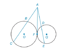 Chapter 6.3, Problem 27E, In Exercises 27 to 30, provide a paragraph proof. Given:OandQ are tangent at point F Secant ACtoO
