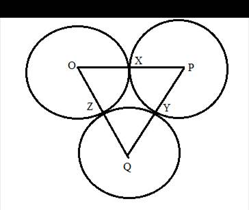 Chapter 6.3, Problem 40E, Circles O, P, and Q are tangent as shown at points X, Y, and Z. Being as specific as possible,