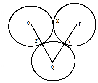 Chapter 6.3, Problem 43E, Circles O, P, and Q are tangent as shown for Exercise 40. If OX=3,PY=4,QZ=1, name: a.The smallest