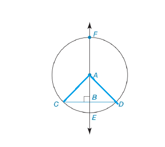 Chapter 6.3, Problem 46E, In Exercises 46 to 49, prove the stated theorem. If a line is drawn through the center of a circle