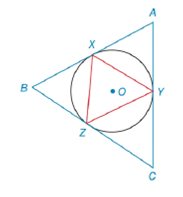 Chapter 6.4, Problem 11E, X, Y, and Z are on circle O such that mXY=120, mYZ=130, and mXZ=110. Suppose that triangle XYZ is