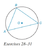 Chapter 6.4, Problem 28E, Triangle ABC is inscribed in circle O; AB=5, BC=6, and AC=7. a Which is the largest minor arc of O:
