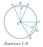 Chapter 6.4, Problem 2E, In Exercises 1 to 8, use the figure provided. If mCDmAB, write an inequality that compares CD and
