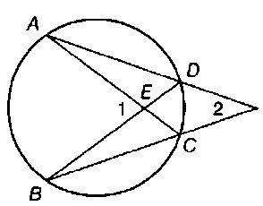 Chapter 6.CT, Problem 5CT, Given that mAB=106 and mDC=32, find: a m1 b m2