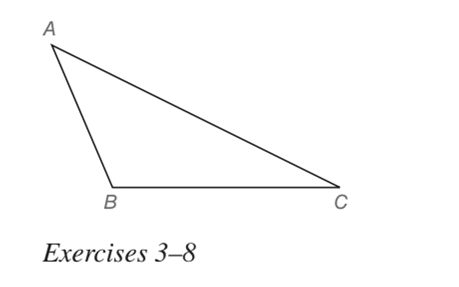 Chapter 7.1, Problem 3E, In Exercises 3 to 8, use the drawing provided. Given: Obtuse ABC Construct: The bisector of ABC