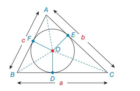 Chapter 7.2, Problem 46E, For exercises 44 to 46, O is the inscribed circle for ABC . In exercises 45 and 46, use the result