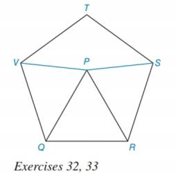 Chapter 7.3, Problem 32E, Given that RSTVQ is a regular pentagon and  PQR is equilateral in the figure shown, determine a the