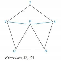 Chapter 7.3, Problem 31E, Given: Regular pentagon RSTVQ with equilateral  PQR Find: mVPS