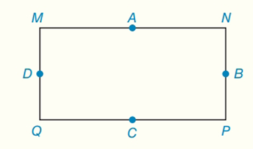 Chapter 7.CT, Problem 16CT, For rectangle MNPQ, points A, B, C and D are the midpoints of the sides. aWhat type of quadrilateral