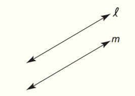 Chapter 7.CT, Problem 1CT, Draw and describe the locus of points in the plane that are equidistant from parallel lines l and m.