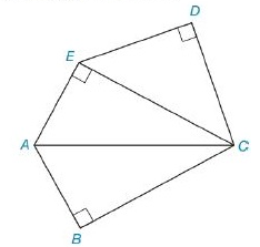 Chapter 8.2, Problem 29E, In Exercises 27 to 30, find the area of the figure shown. Given: Pentagon ABCDE with DC-DE- AE=AB=5