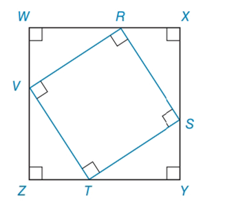 Chapter 8.2, Problem 39E, Square RSTV is inscribed in square WXYZ, as shown. If ZT=5 and TY=12, find athe perimeter of RSTV
