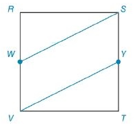 Chapter 8.2, Problem 55E, Each side of square RSTV has length 8. Point W lies on VR- and point Y lies on TS- in such a way to