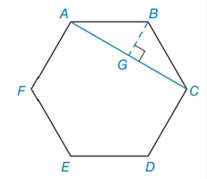 Chapter 8.3, Problem 34E, Given regular hexagon ABCDEF with each side of the length 6 and the diagonal AC, find the area of