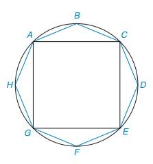 Chapter 8.3, Problem 34E, Regular octagon ABCDEFGH is inscribed in a circle whose radius is 722 cm. Considering that the area