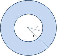 Chapter 8.4, Problem 31E, Given concentric circles with radii of lengths R and r, where Rr, explain why Aring=(r+r)(Rr).