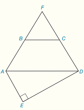 Chapter 8.CR, Problem 11CR, Given: Isosceles trapezoid ABCD Equilateral FBC Right AED BC = 12, AB = 5, and ED = 16 Find: a AEAFD
