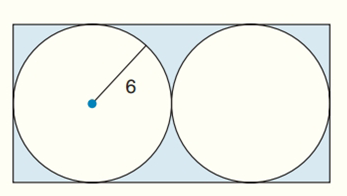 Chapter 8.CR, Problem 30CR, Find the exact areas of the shaded regions in Exercises 27 to 31. Two  tangent circles, inscribed in