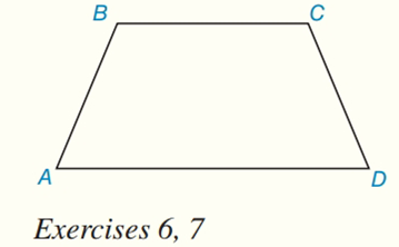 Chapter 8.CR, Problem 6CR, Given: Trapezoid ABCD, with ABCD,BC=6,AD=12,andAB=5 Find: AABCD