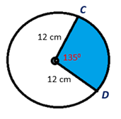 Chapter 8.CT, Problem 14CT, Find the exact area of the 1350 sector shown.