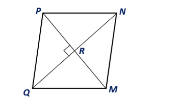 Chapter 8.CT, Problem 6CT, Find the area of rhombus MNPQ given that QN=8 ft and PM=6 ft.