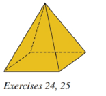 Chapter 9.2, Problem 25E, For the regular square pyramid shown, suppose that the sides of the square base measure 6ft each and