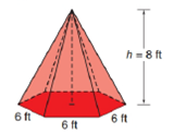 Chapter 9.2, Problem 26E, The figure below is a regular hexagonal pyramid. a Find the lateral area L of the pyramid. b Find