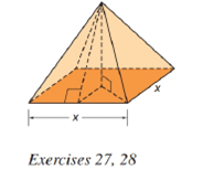 Chapter 9.2, Problem 27E, For a regular square pyramid, suppose that the altitude has a measure equal to that of each edge of