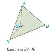Chapter 9.2, Problem 39E, Exercise 39 and 40 are based upon the uniqueness of volume. A tetrahedron not rectangular has