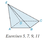 Chapter 9.2, Problem 9E, Suppose that the lateral faces of the pyramid in Exercise 5 have AABE=12in2, ABCE=16in2, ACDE=12in2,