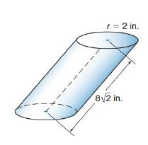 Chapter 9.3, Problem 13E, Find the volume of the oblique circular cylinder. The axis meets the plane of the base to form a 45