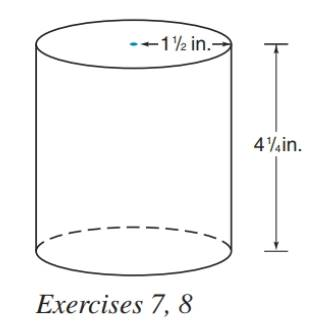 Chapter 9.3, Problem 7E, The tin can shown at the right has the indicated dimensions. Estimate the number of square inches of