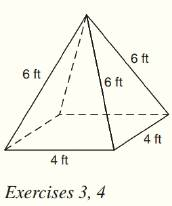 Chapter 9.CT, Problem 3CT, For the regular square pyramid shown, find the total number of a vertices. b lateral faces.