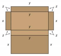 Chapter A.1, Problem 26E, The cardboard used in the construction of the box shown in the accompanying figure has an area of