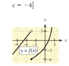 Chapter 9.1, Problem 9E, In Problems 7-10, use the graph of y =  and the given c-value to find the following, whenever they